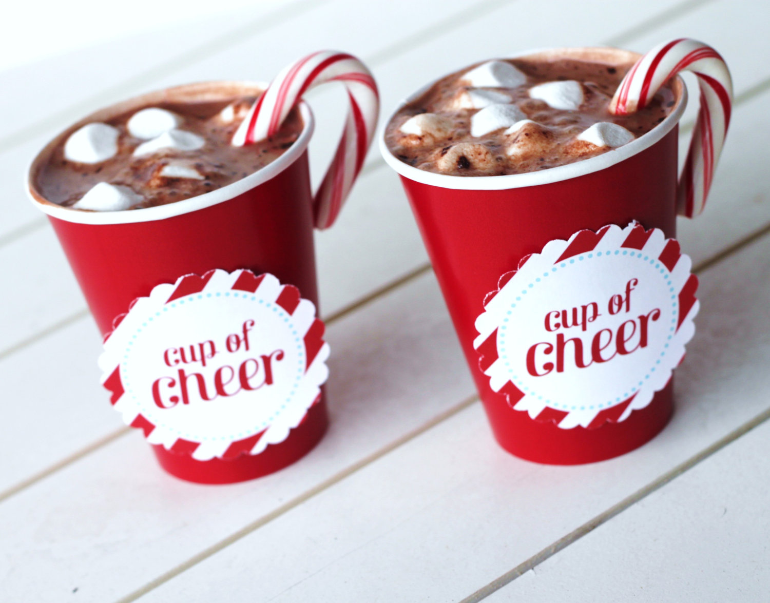 Cup of Cheer Labels | The Homespun Hostess