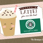 latte thank you card