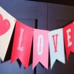 love banner v day