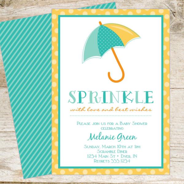 home baby baby shower sprinkle printable invite copy