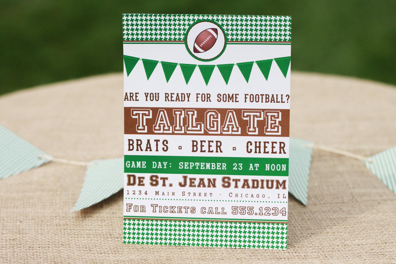 Tailgate Football Printable Party Invite The Homespun Hostess