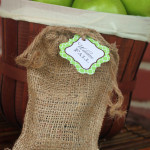 burlap bags and fancy tags
