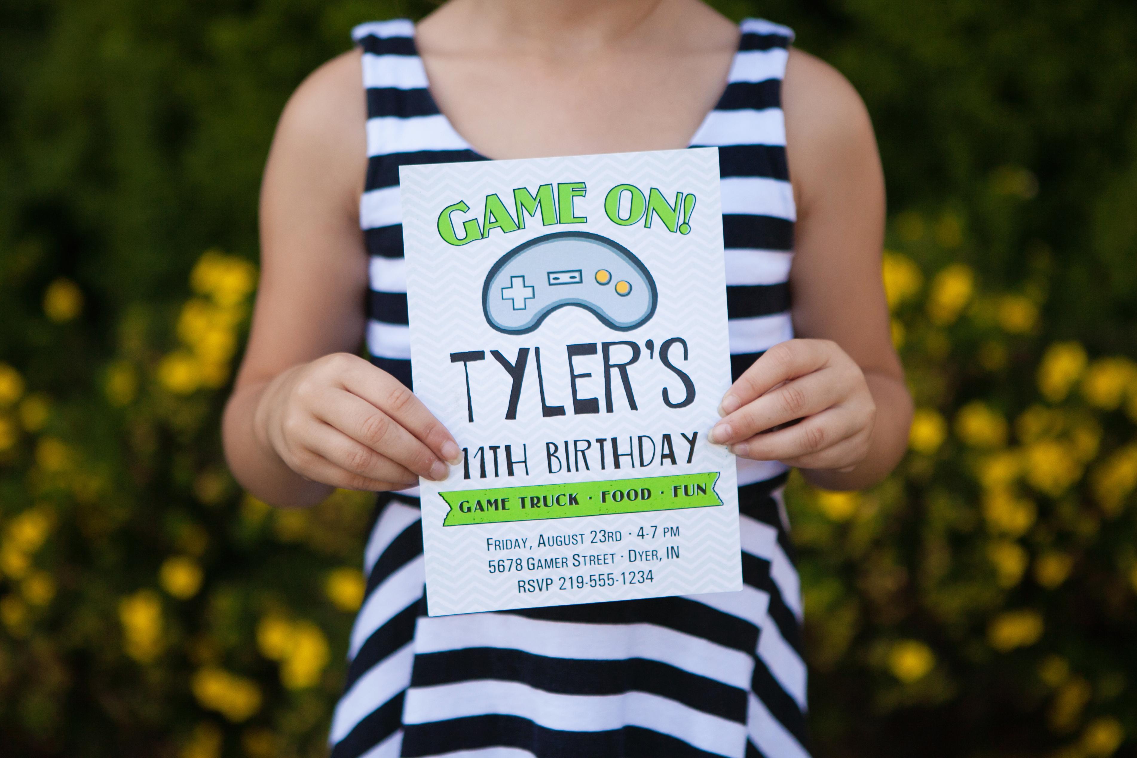 Video Game Truck Party Printable Invitation | The Homespun Hostess