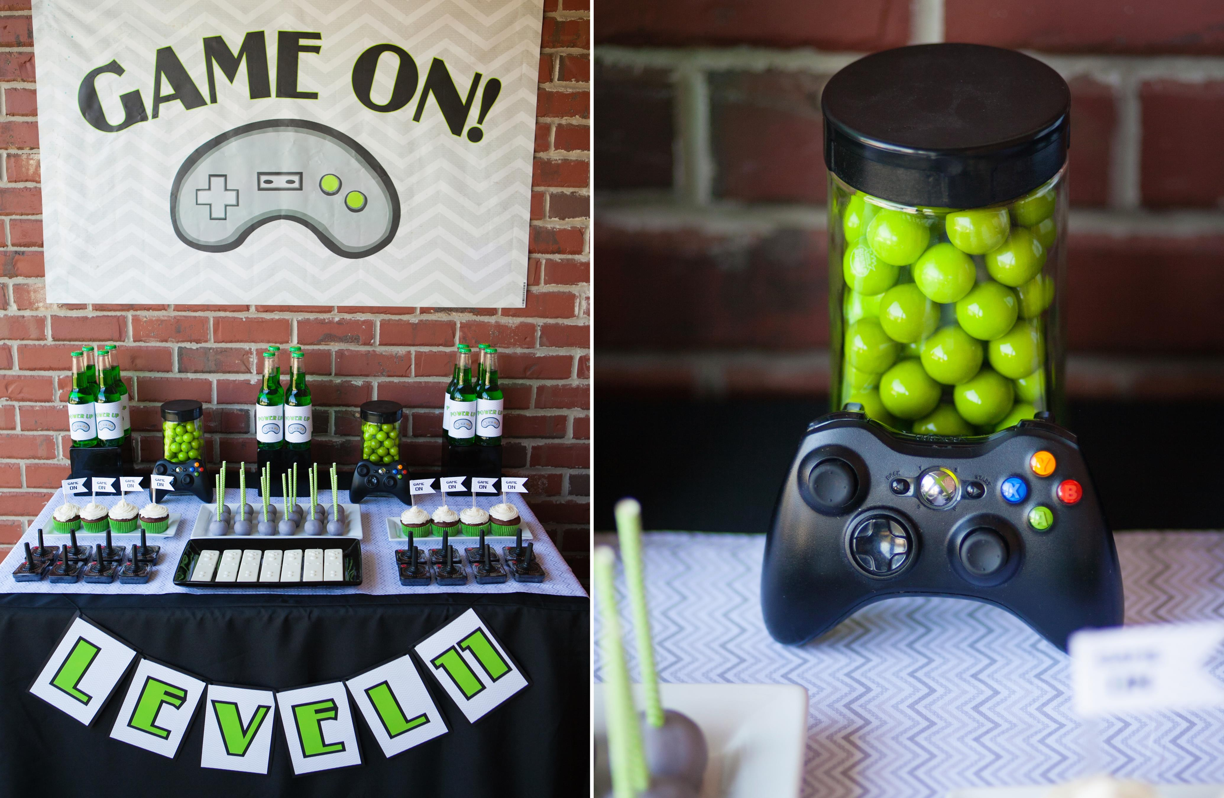 Game on tyler s video game truck party plus a minecraft freebie the homespun hostess Game decoration