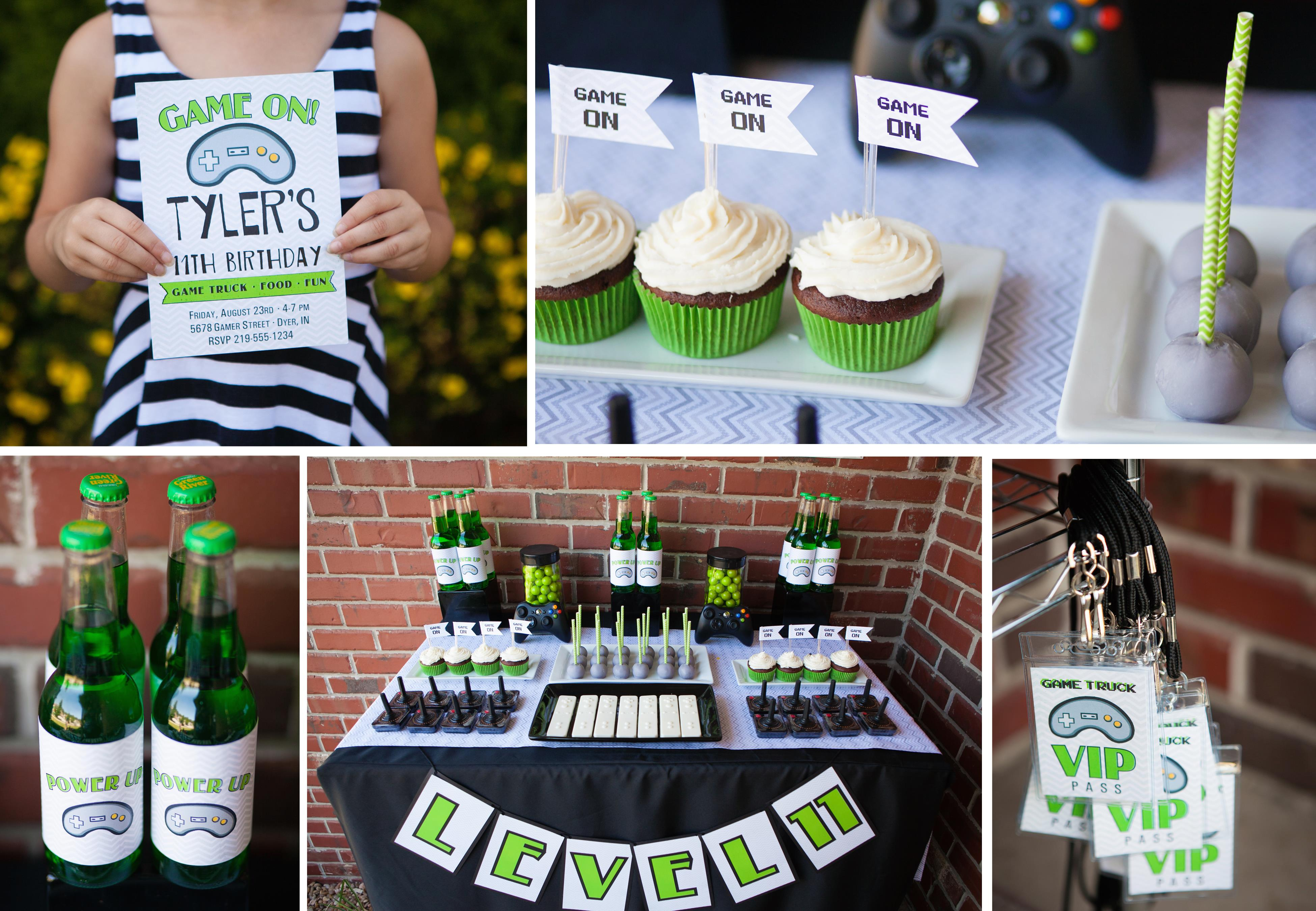 Video Game Truck Printable Party Set and Invite | The Homespun Hostess