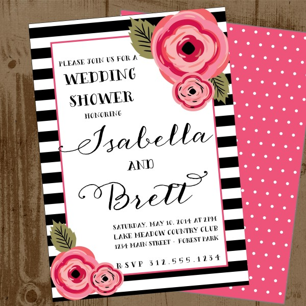Black And White Bridal Shower Invitations is one of our best ideas you might choose for invitation design