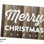 pic- 5x7 christmas barnwood