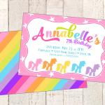 colorful pony invite