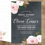chalk pink flower shower