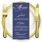 classic blue menu