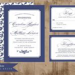 classic blue wedding 1