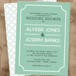lucite green shower invite