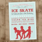 vintage ice skating invite