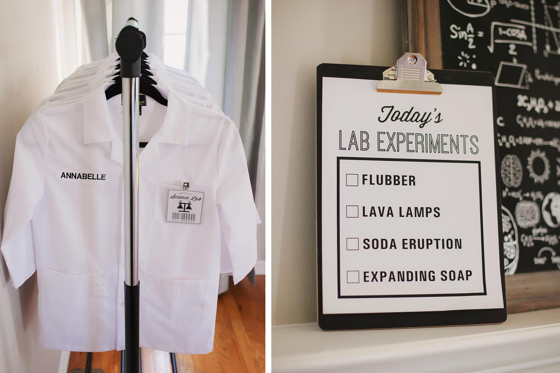 Science Experiment Birthday Party Ideas | The Homespun Hostess