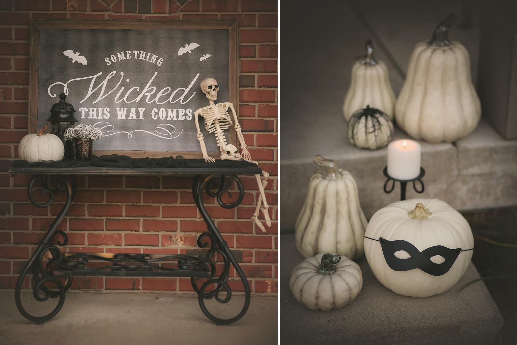 12 happy haunting black and white decorating - Black And White Halloween Decor