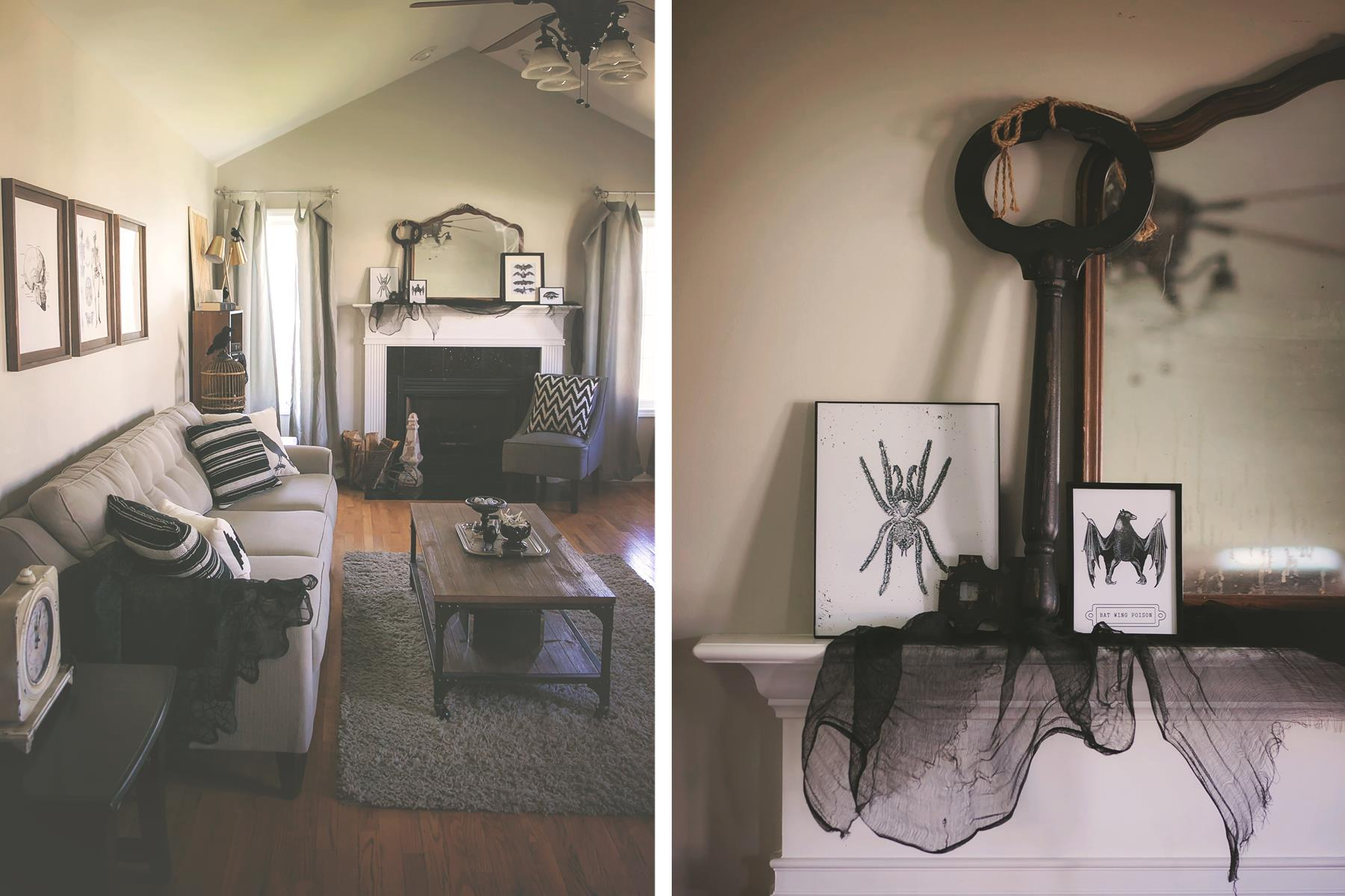 black and white halloween decorating ideas the homespun hostess